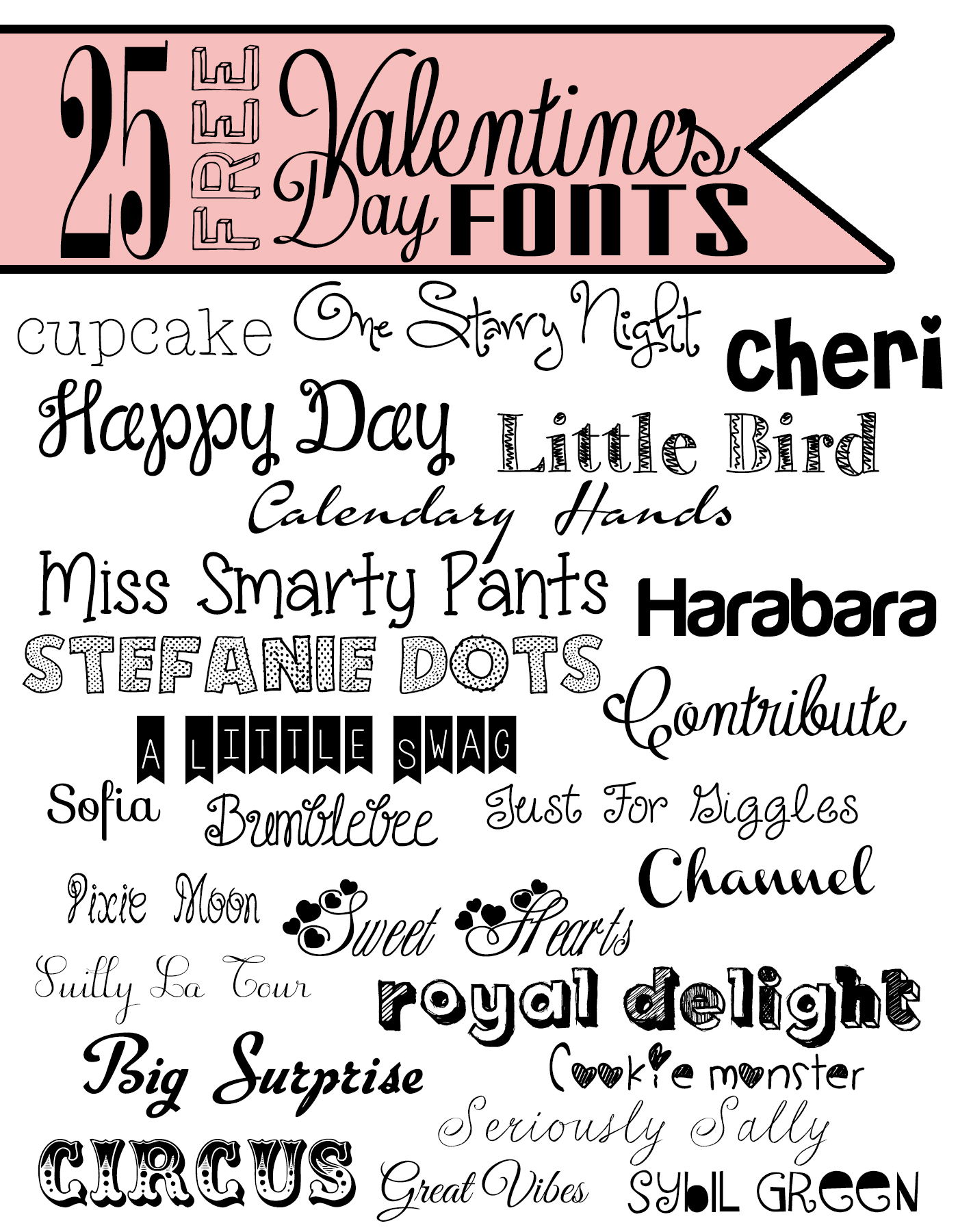 Top 25 Valentine S Fonts The Refurbished Life