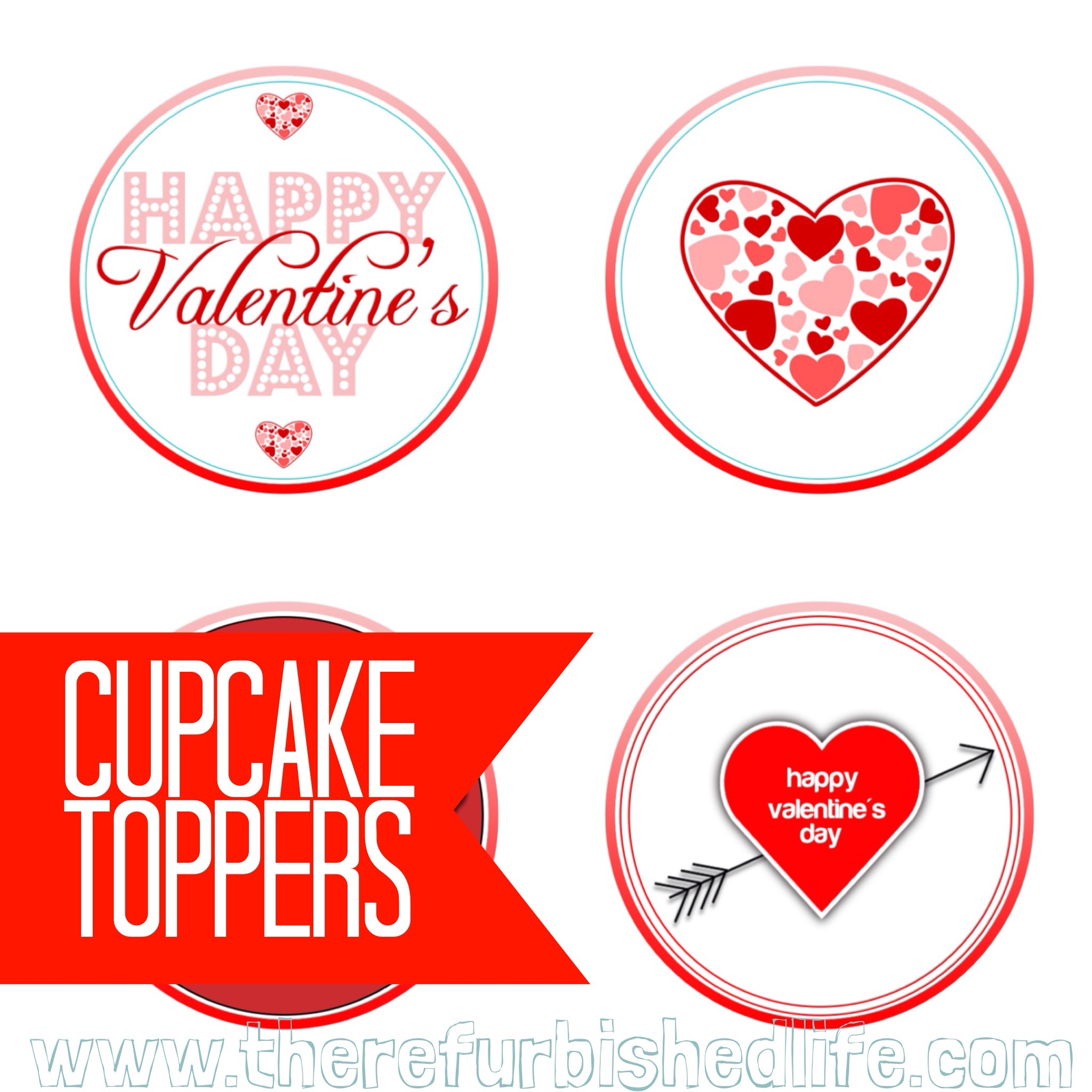 valentine's cupcake toppers – THE REFURBISHED LIFE