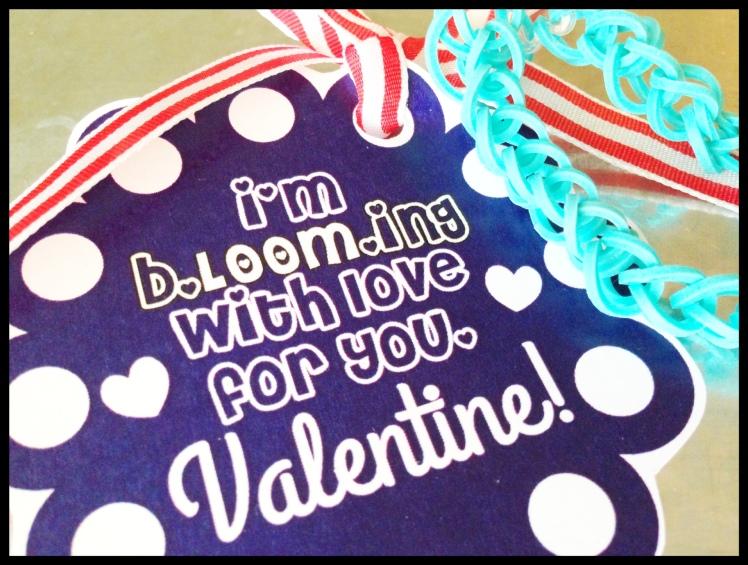 valentine's loom bracelet