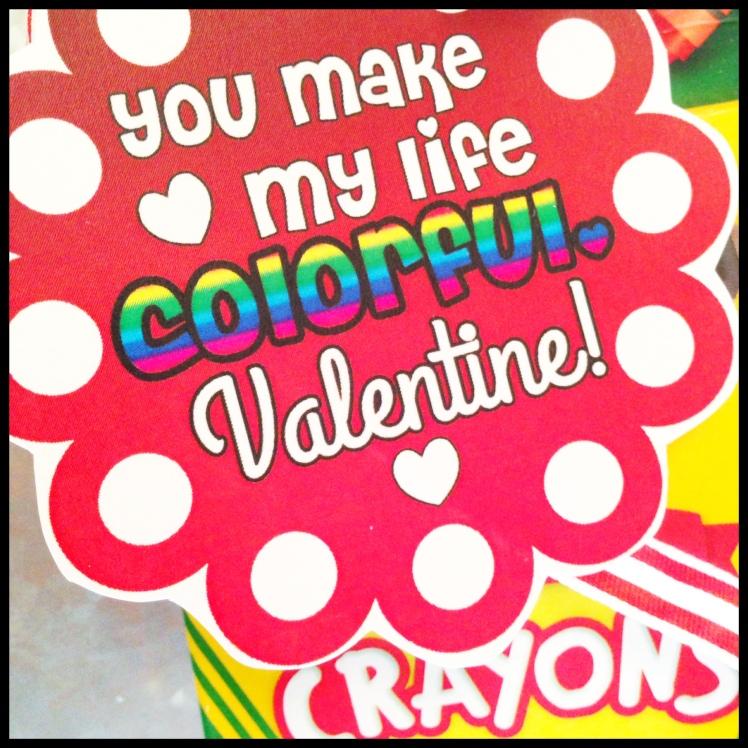 valentine's crayons