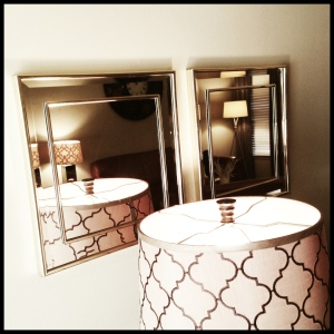 credenza styled mirrors