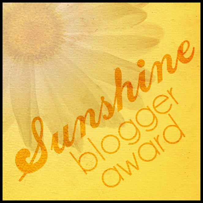 sunshine blogging award