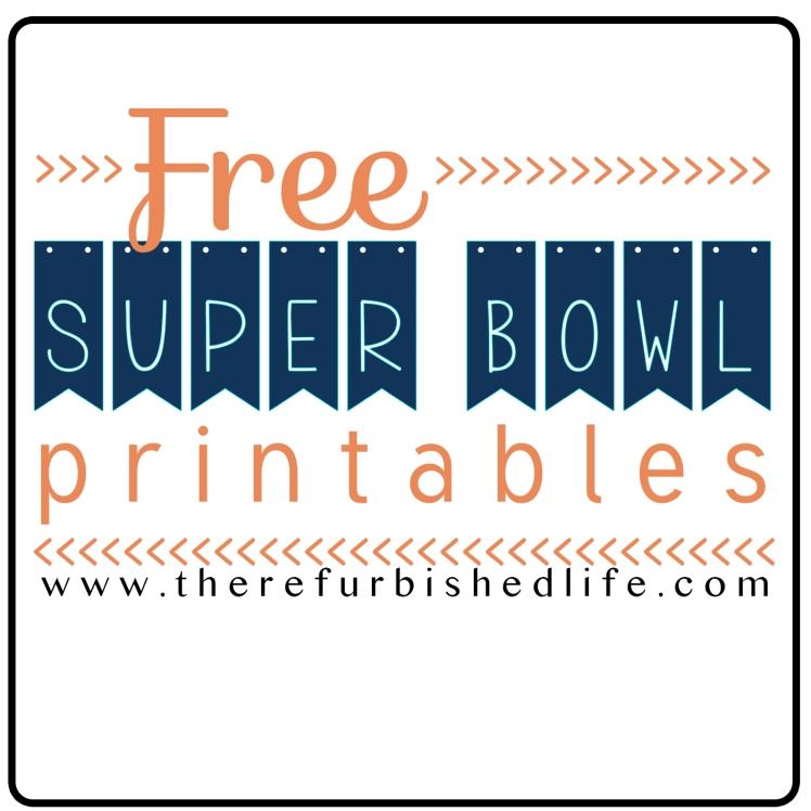 Super Bowl Printables