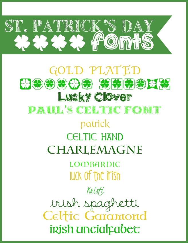 2.23.14 st patricks fonts