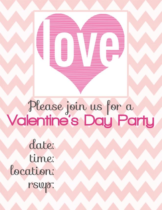 valentines party invitations