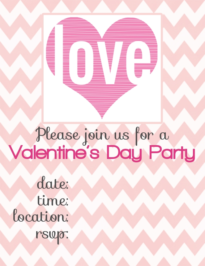 valentine\'s day invitations {free printables} – THE REFURBISHED LIFE