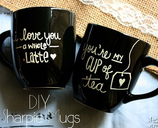 diy valentine mugs