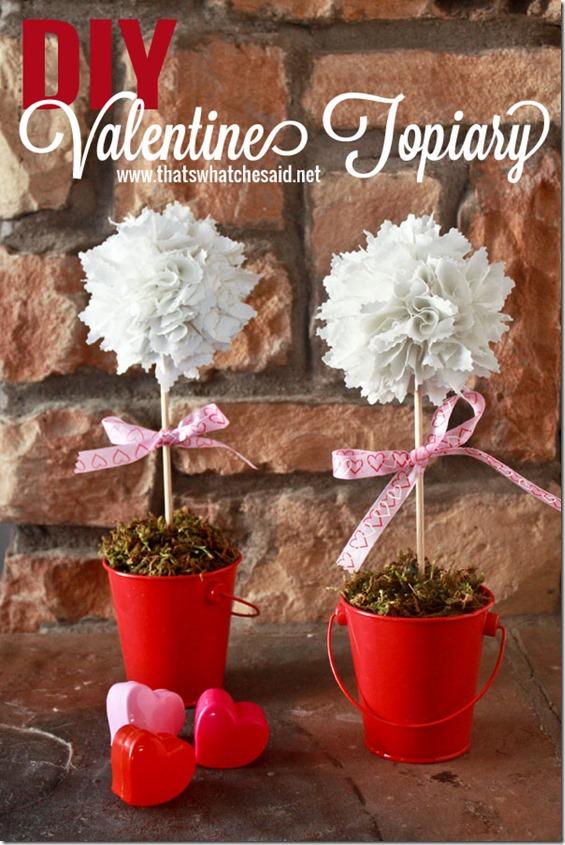 diy valentine topiary