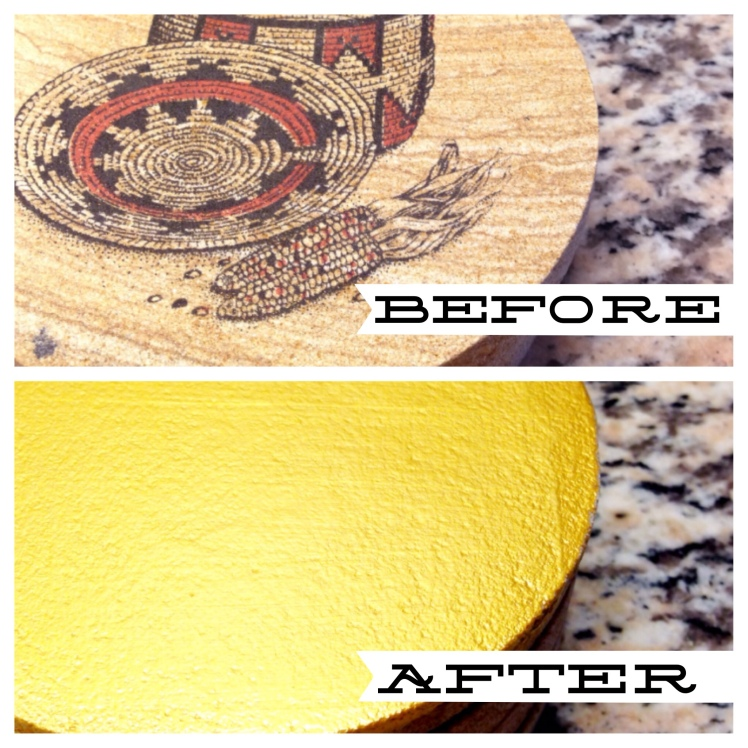 gold gilded coasters