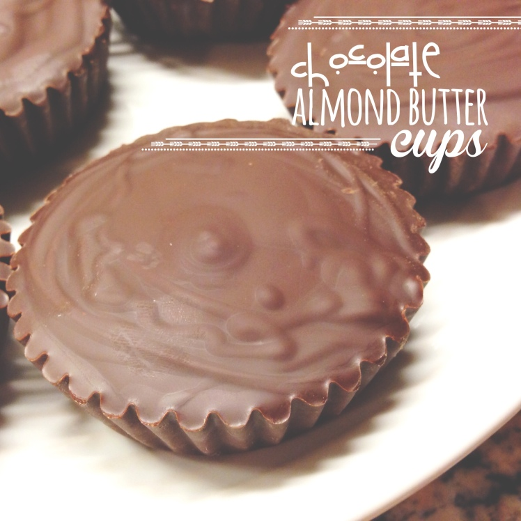 paleo chocolate almond butter cups