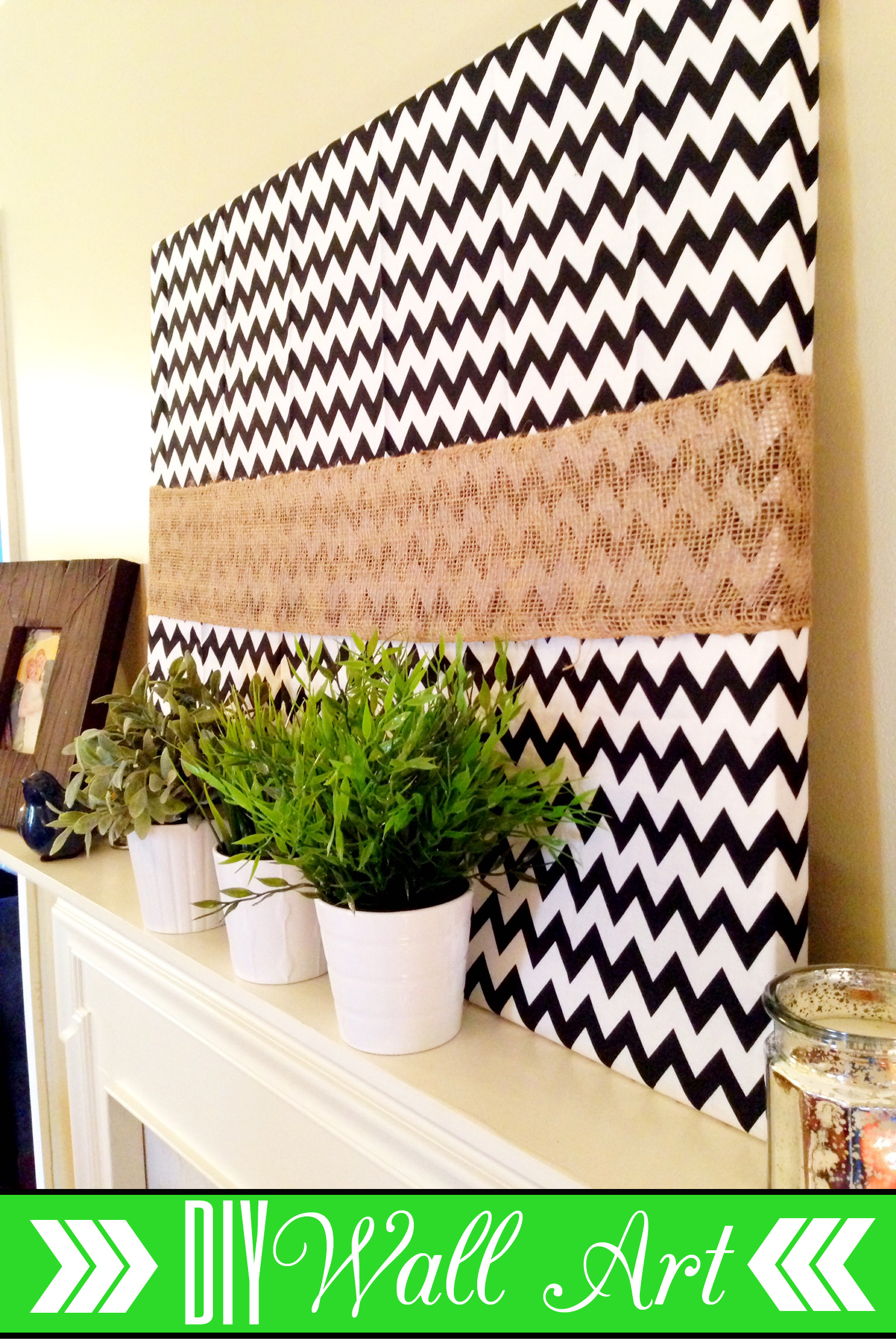Diy Spring Wall Decor : Diy wall art my spring mantel t h e r f u b i s