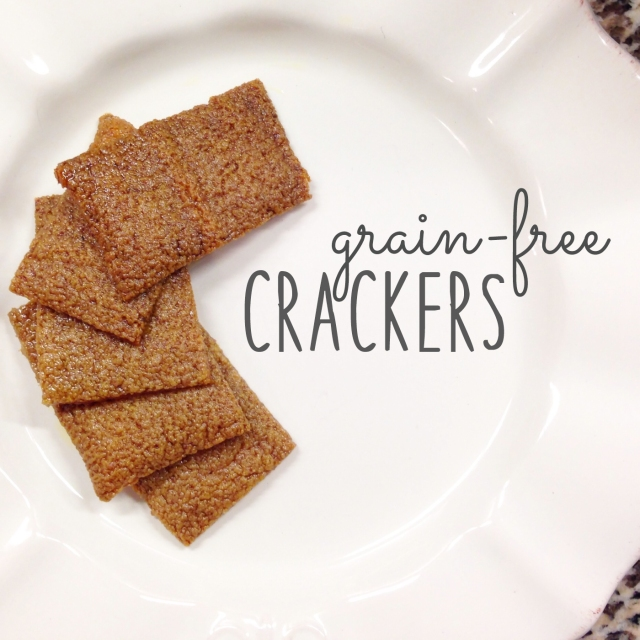 easy bake grain-free crackers