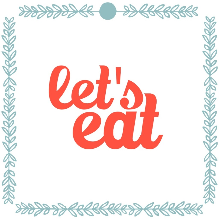 kitchen printable let's eat