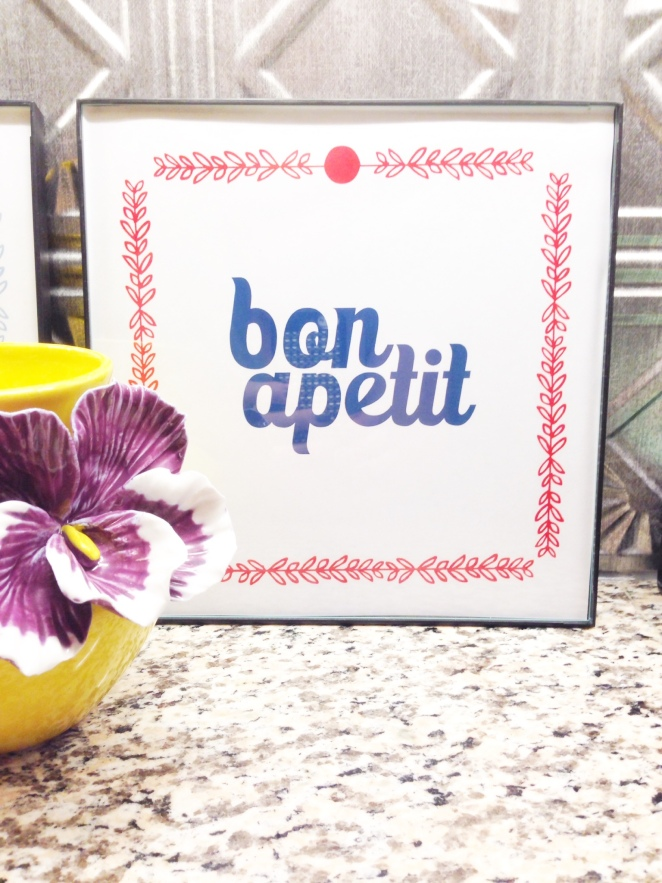 kitchen printables bon a petit