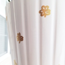 gold shamrock plant pot