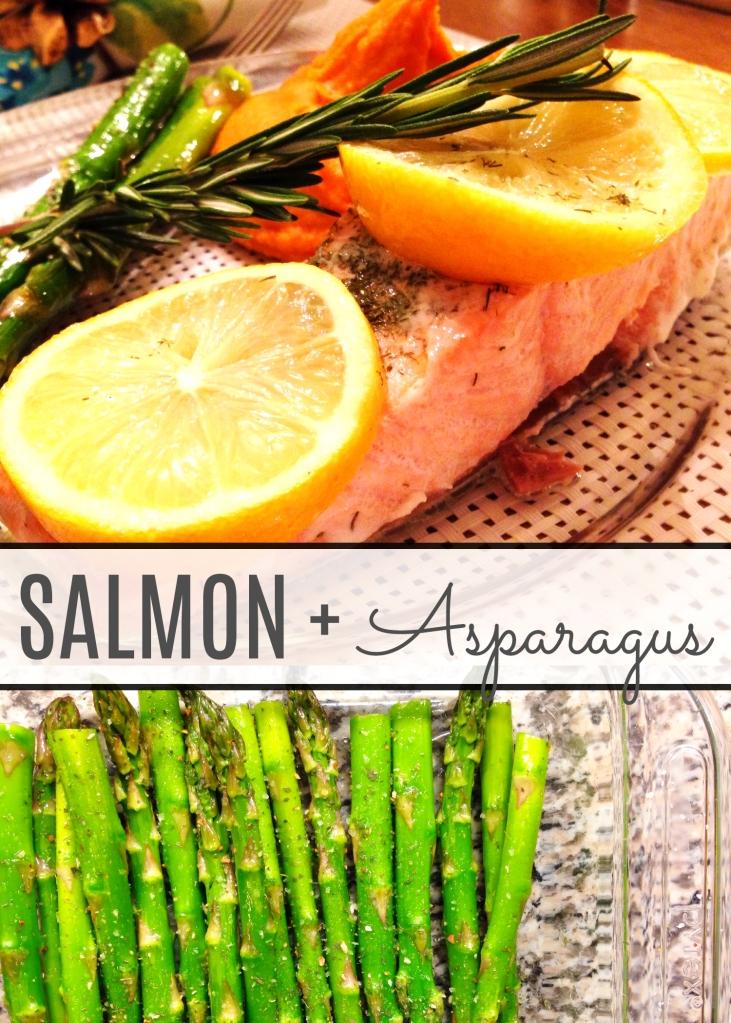 4.14.14 salmon + asparagus