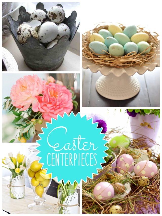 4.18.14 easter centerpieces