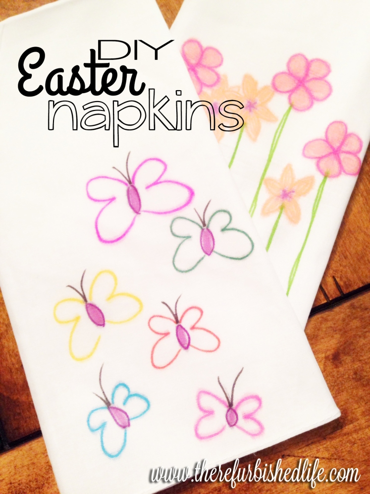 diy easter napkins