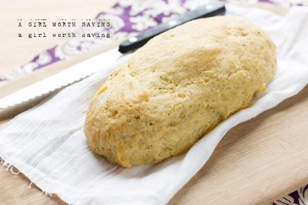 A girl worth saving garlic bread