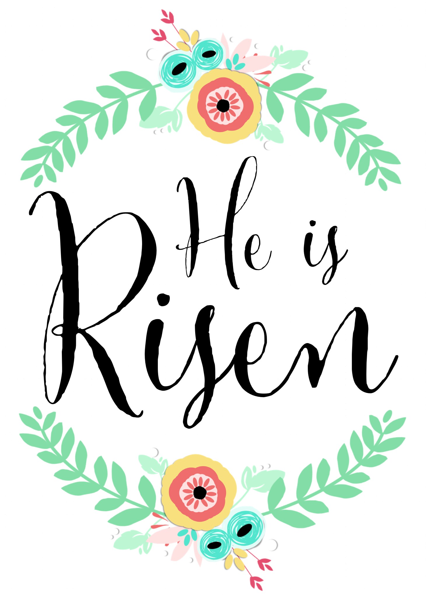 It's just a picture of Dynamic He is Risen Printable