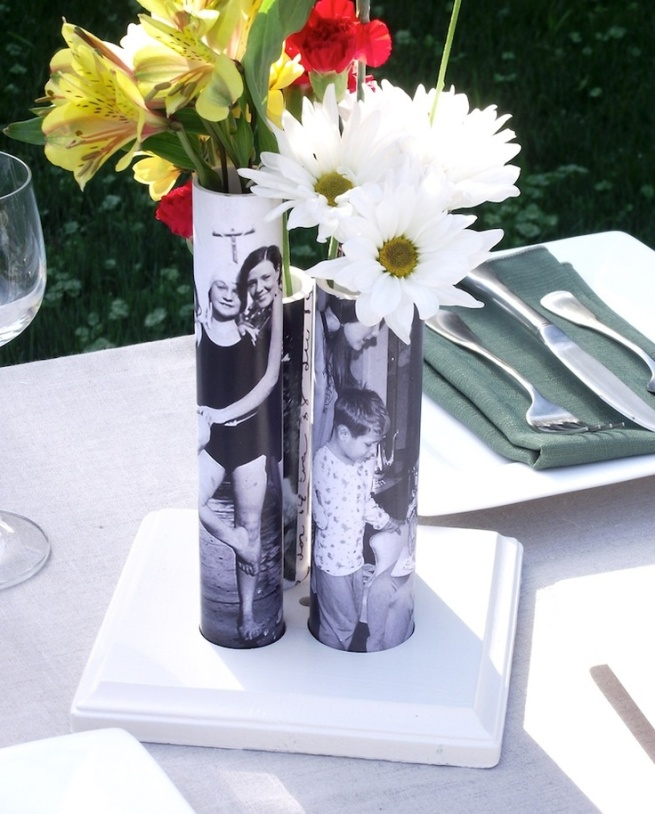 mother's day photo vase