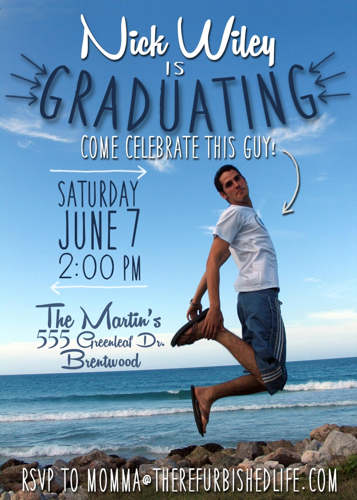 graduation invitation arrow