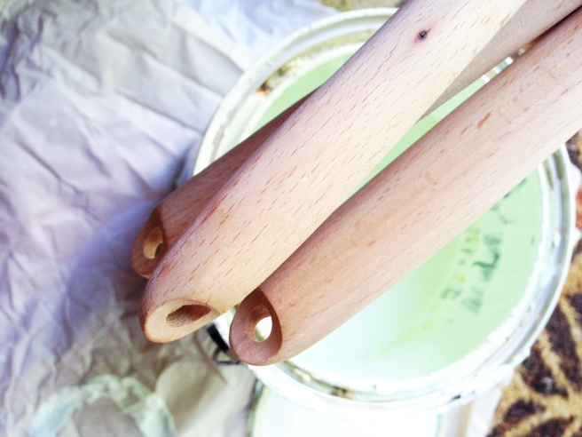 diy paint dipped serving utensils