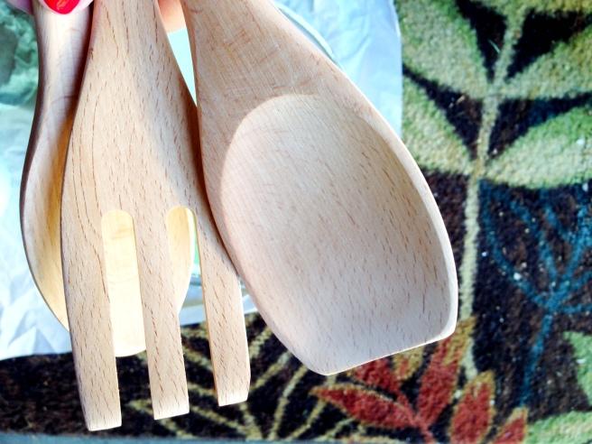 diy paint dipped serving utensils